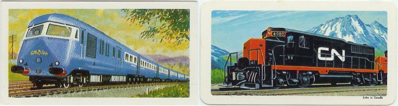 Diesel Locomotives on both sides - British to the Left and Red Rose to the Right