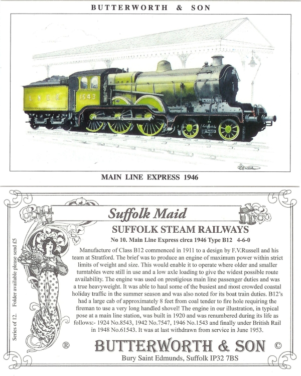 Card # 10 - Main Line Express 1946
