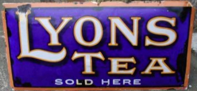 Lyons Tea Sign