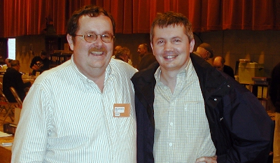 Myself and my good friend Mark Knowler of TeaCards.Com